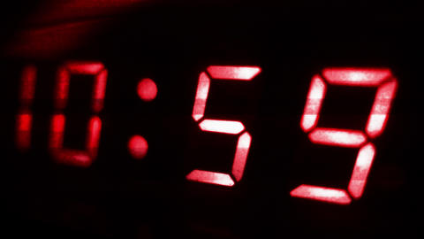 4K Digital Clock Turn to 11 Futuristic Design 2 Footage