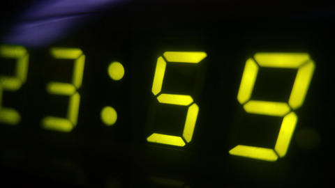 4K Digital Clock Turn to Midnight 0 24 Footage