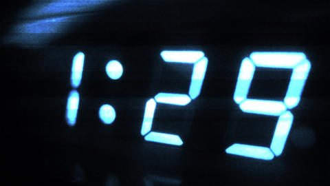 4K Digital Clock Turns to 1 30 Sci Fi Design 2 Footage