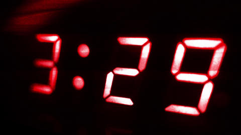 4K Digital Clock Turns to 3 30 Sci Fi Design 2 Footage