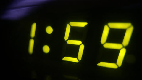 4K Digital Clock Turns to 2 Footage