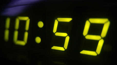 4K Digital Clock Turn to 11 Footage