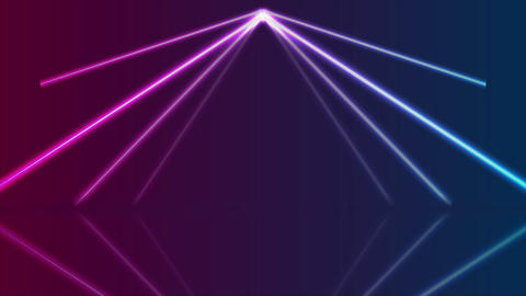 Blue ultraviolet neon laser lines video animation GIF