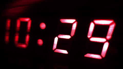 4K Digital Clock Turn to 10 30 Futuristic Design 2 Footage