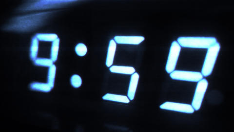 4K Digital Clock Turn to 10 Futuristic Design 1 Footage