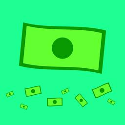 Flat money vector with blue background.Money icon on sky ベクター
