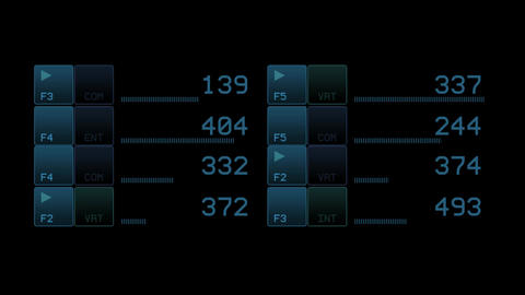 business software interface & numbers Stock Video Footage