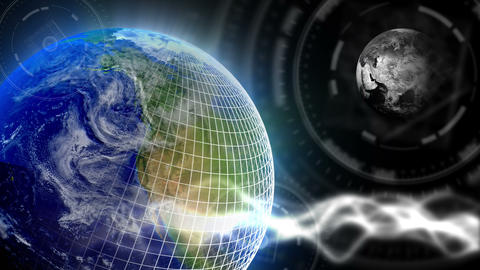 Luxury Spinning Earth Background 82 (HD) Stock Video Footage
