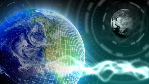 Luxury Spinning Earth Background 84 (HD) Stock Video Footage
