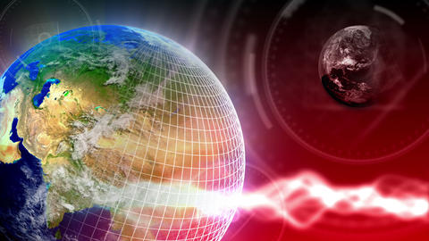 Luxury Spinning Earth Background 86 (HD) Stock Video Footage