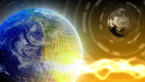 Luxury Spinning Earth Background 88 (HD) Stock Video Footage