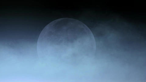 cloud cover moon,fairyland,celestial body Stock Video Footage