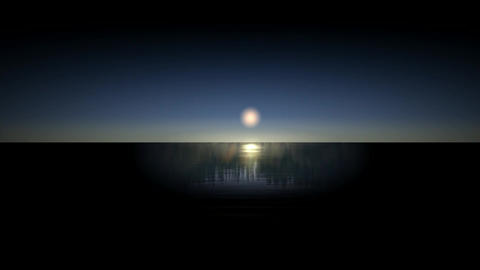 Moon reflection in the sea Animation