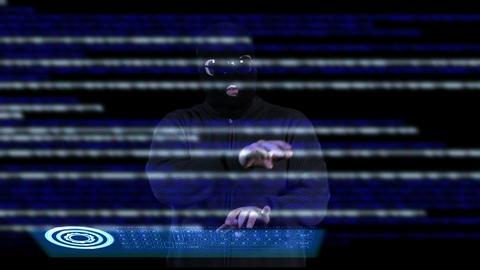 Hacker Breaking System 12 Stock Video Footage