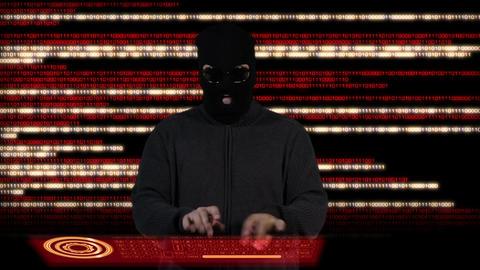 Hacker Breaking System Fail 4 Stock Video Footage