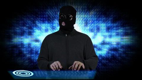 Hacker Breaking System Fail 8 Stock Video Footage