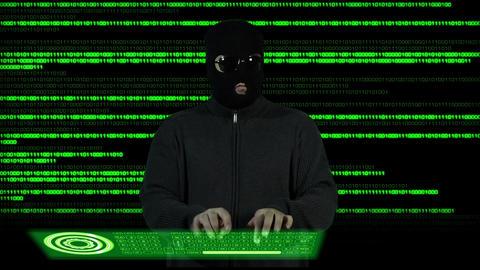 Hacker Breaking System Success 2 Stock Video Footage