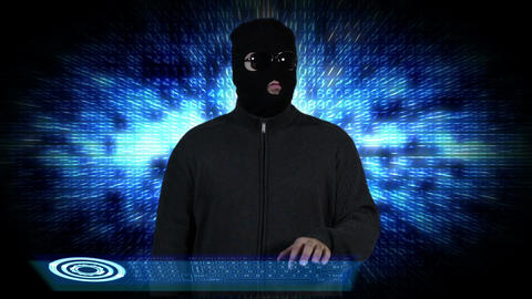 Hacker Breaking System Success 8 Stock Video Footage