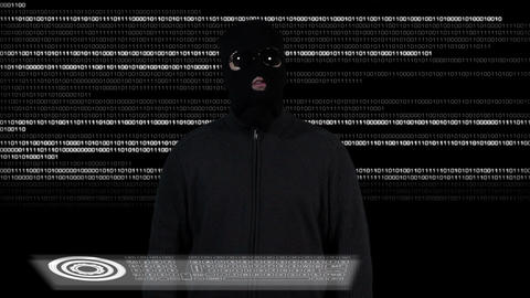 Hacker Breaking System Thinking 1 Stock Video Footage