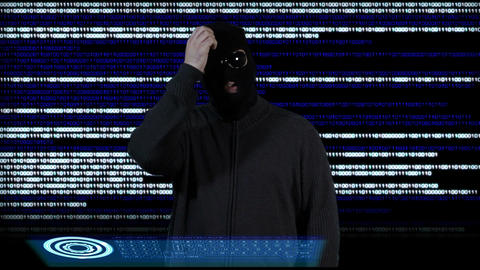 Hacker Breaking System Thinking 3 Stock Video Footage