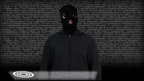 Hacker Breaking System Thinking 5 Stock Video Footage