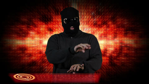 Hacker Breaking System Thinking 7 Stock Video Footage