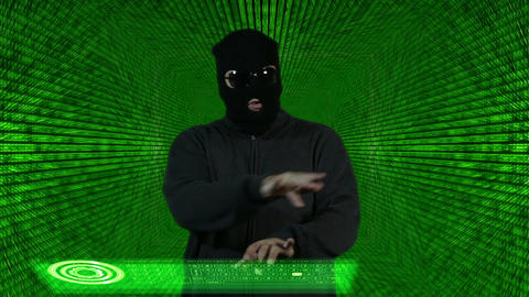 Hacker Breaking System Thinking Tunnel Design 1 Stock Video Footage