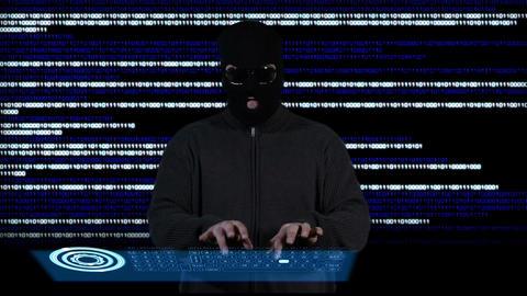 Hacker Working Hard 3 Stock Video Footage