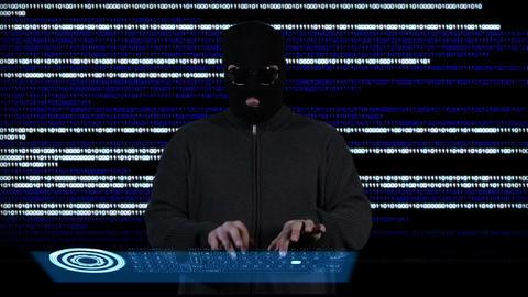 Hacker Working Hard 3 Footage