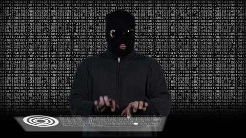 Hacker Working Hard 5 Stock Video Footage
