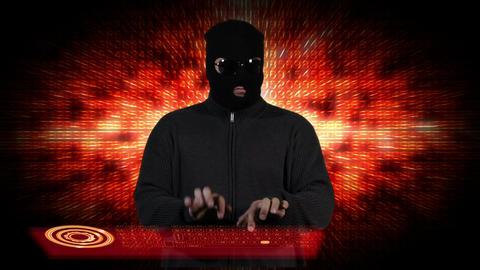 Hacker Working Hard 7 Stock Video Footage