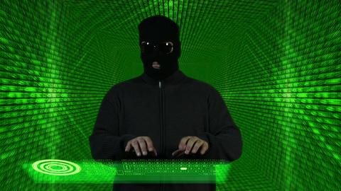 Hacker Working Hard Tunnel Design 1 Stock Video Footage