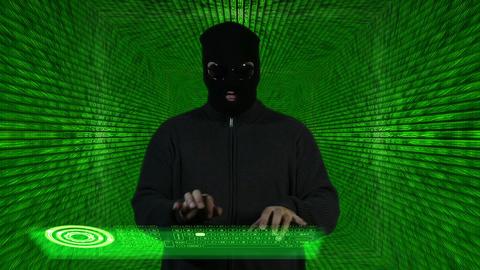 Hacker Working Hard Tunnel Design 1 Footage