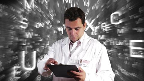 Scientist Checking Documents Scientific Mathematics... Stock Video Footage