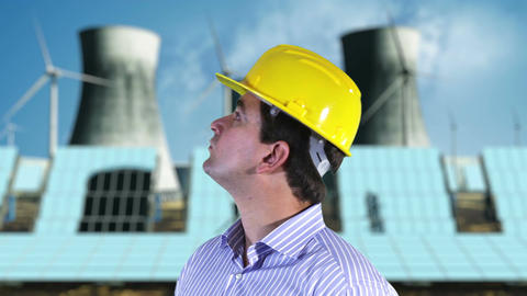 Young Engineer Checking Site Energy Concept 1 Stock Video Footage