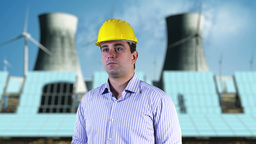 Young Engineer Checking Site Energy Concept 3 Stock Video Footage