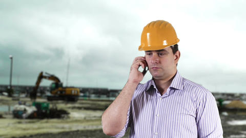 Young Engineer Construction Site 3 Stock Video Footage
