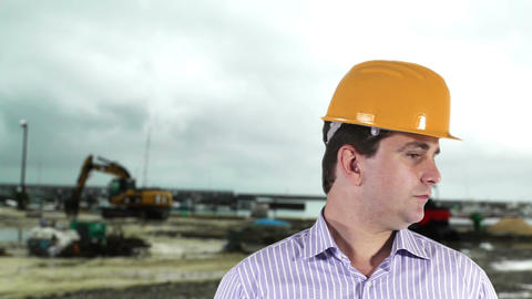 Young Engineer Construction Site 6 Stock Video Footage