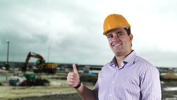 Young Engineer Construction Site 8 Stock Video Footage