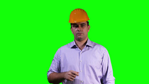 Young Engineer Touchscreen Greenscreen 5 Footage