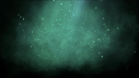 sunshine & rays underwater,particles & planktonic swimming Animation