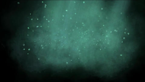 sunshine & rays underwater,particles & planktonic... Stock Video Footage