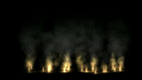Fire wall,oilfield,military war battlefield Animation