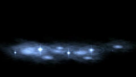 golden water drop & ripple in pond,splash geyser & stars Animation