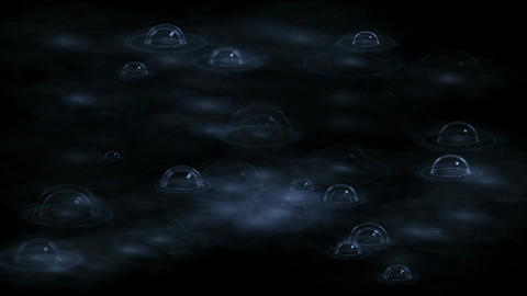 boiling bubble in spa,water drop & ripple in pond Animation
