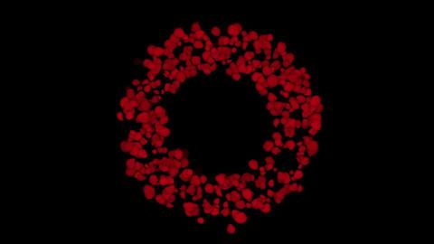 rose petals shaped wreath,wedding background,Valentine's Day Animation