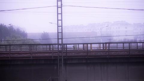 Long railway bridge Footage