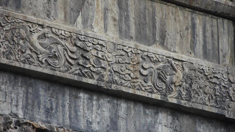 China stone arch & Carved stone dragon Live Action