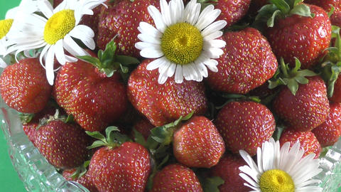 Fresh and juicy Strawberry Footage
