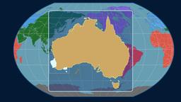 Australia (Kavrayskiy VII). Continents Animation